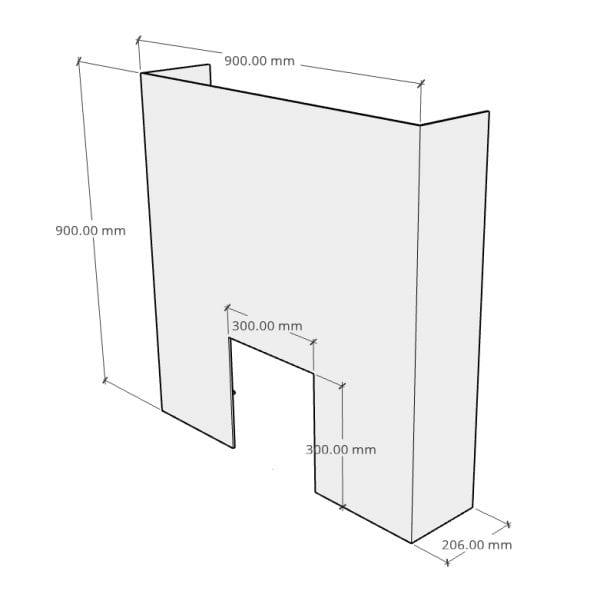 Counter Screen Medium Front
