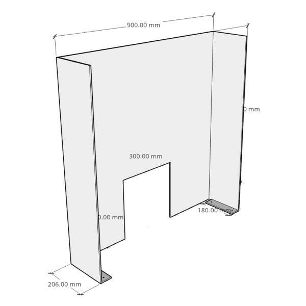 Counter Screen Medium rear